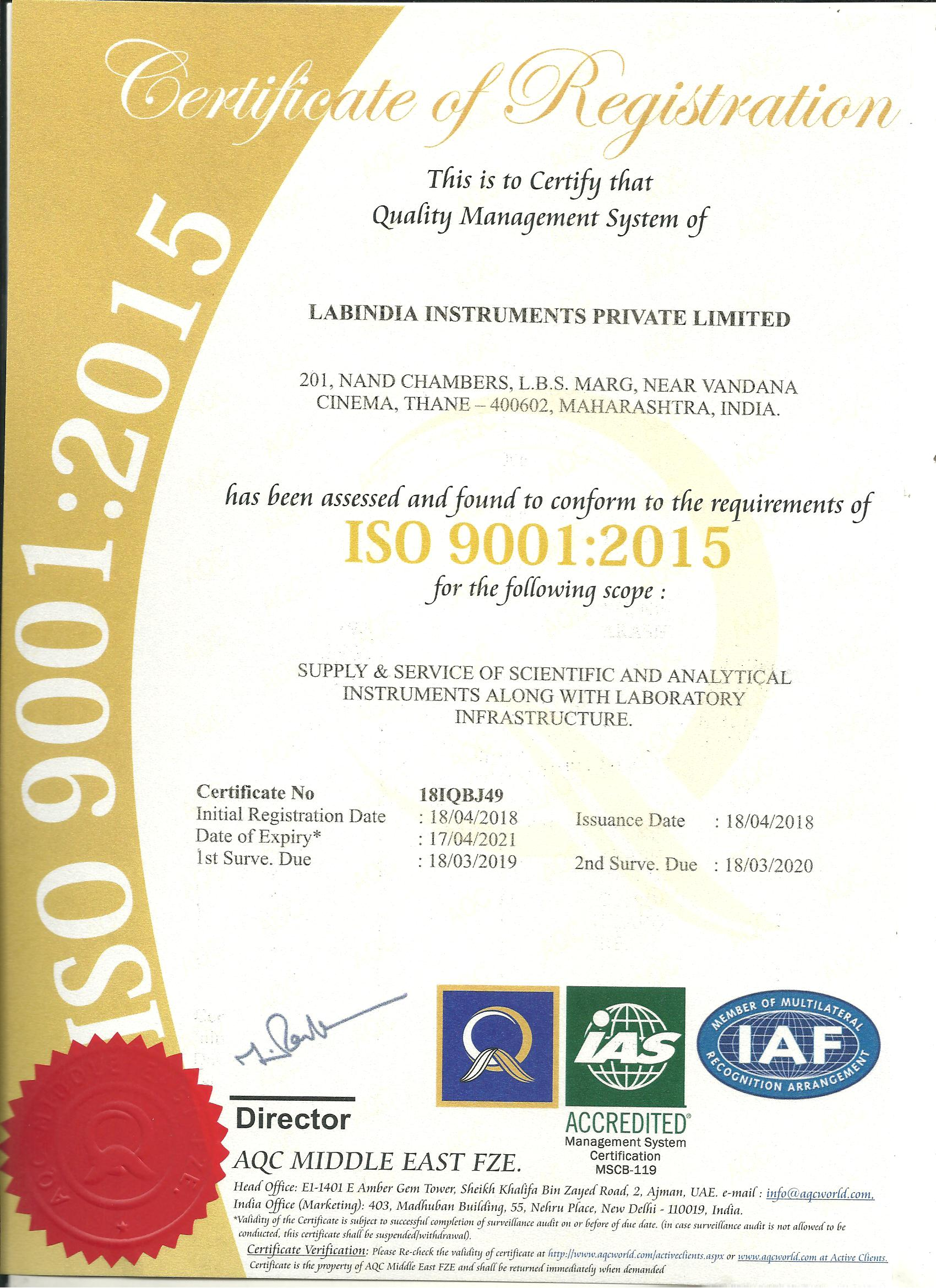 iso 9001 manager jobs india