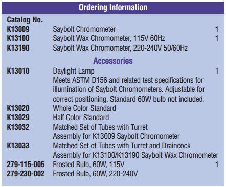 Saybolt Chromometer Saybolt Wax Chromometers Mumbai India